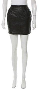 BLK DNM Leather Mini Skirt w/ Tags
