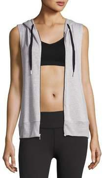 Beyond Yoga Vest Behavior Hoodie, Light Gray
