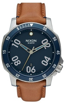 Nixon Men's 'The Ranger' Leather Strap Watch, 44Mm