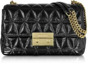 Michael Kors Sloan Large Black Quilted Patent Leather Chain Shoulder Bag - BLACK - STYLE