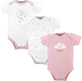 Hudson Baby Pink Clouds Bodysuit Set - Newborn