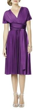 Dessy Collection Plus Size Women's Convertible Wrap Tie Surplice Jersey Dress