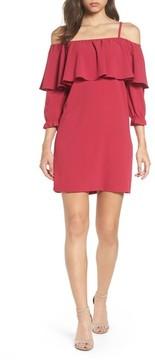 Felicity & Coco Women's Ruffle Cold Shoulder Shift Dress