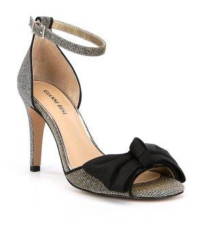 Gianni Bini Prysillaa Bow Detail Metallic Fabric Dress Sandals
