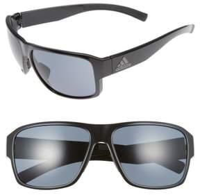 Women's Adidas Jaysor 60Mm Sunglasses - Shiny Black/ Grey