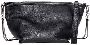Christopher Kon Black Pebble After Party Leather Crossbody Bag