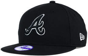 New Era Kids' Atlanta Braves Black White 9FIFTY Snapback Cap