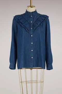 A.P.C. Suzie denim blouse