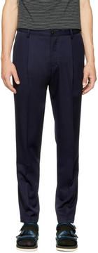 TOMORROWLAND Navy Pleated Trousers