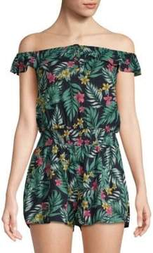 Lucca Couture Printed Ruffled Romper