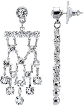 1928 Crystal Cascade Chandelier Earrings