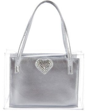 Stuart Weitzman Leather-Trimmed Handle Tote