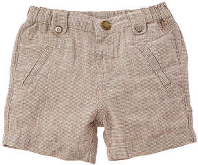 Chicco Boys' Brown Checkered Short