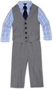 Nautica 4-Pc. Sharkskin Vest Set, Baby Boys (0-24 months)