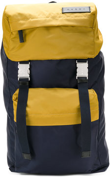 Marni dual coloured nylon backpack