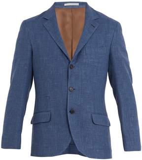 Brunello Cucinelli Single-breasted wool-blend blazer