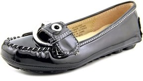 Nine West Julissa Youth Round Toe Synthetic Black Flats.