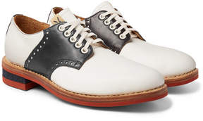 Visvim Patrician Folk Two-Tone Leather Derby Shoes