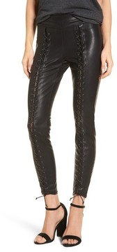 Blank NYC Women's Blanknyc Lace-Up Faux Leather Pants
