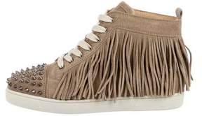 Christian Louboutin Coachelita Spikes Flat Crosta Sneakers w/ Tags