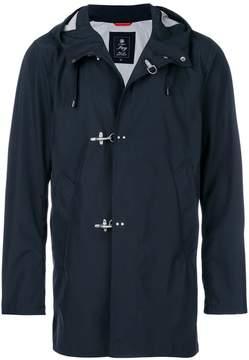 Fay hooded toggle fastening coat