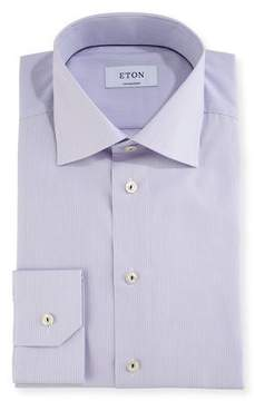 Eton Contemporary-Fit Fine-Stripe Dress Shirt with Piping