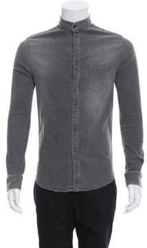 Pierre Balmain Denim Button-Up Shirt