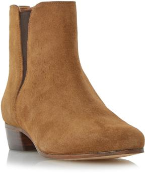 Dune London PAXTON - TAN V-Cut Suede Chelsea Boot