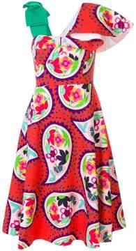 DELPOZO paisley print bodice dress