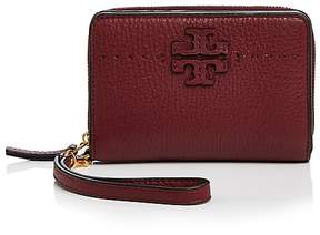 Tory Burch McGraw Leather Bifold Wallet - BLACK/GOLD - STYLE