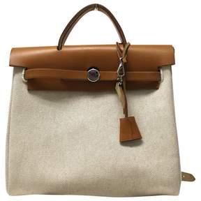 Hermes Vintage Herbag Ecru Cotton Handbag