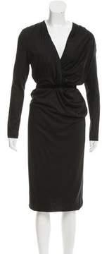 Bottega Veneta Velvet-Accented Cashmere Dress w/ Tags
