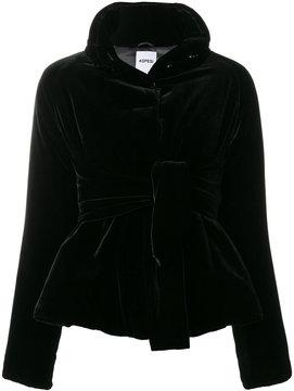 Aspesi belted velvet jacket
