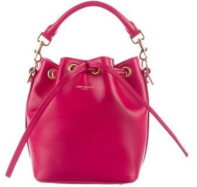Saint Laurent Small Emmanuelle Bucket Bag - PINK - STYLE