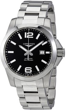 Longines Conquest Black Dial Automatic Men's Watch