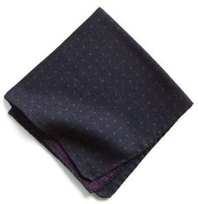 Todd Snyder Italian Wool Pocket Square in Purple Dot