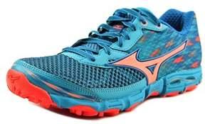 Mizuno Wave Hayate 2 Women Round Toe Synthetic Blue Running Shoe.