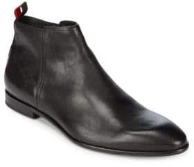 HUGO BOSS Dress Point Toe Leather Ankle Boots