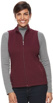 Croft & Barrow Women's Ribbed Side Quilted Vest