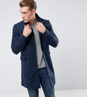 ONLY & SONS Funnel Neck Overcoat in Texture