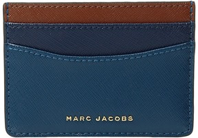 Marc Jacobs Saffiano Color Blocked Card Case Handbags - BRIGHT TEAL MULTI - STYLE