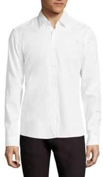 HUGO Resta Dotted Collar Slim-Fit Shirt