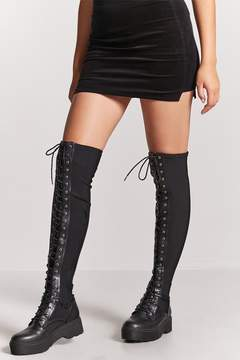Forever 21 Combat Over-the-Knee Boots