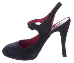 Le Silla Suede Ankle-Strap Pumps