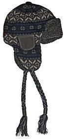 Muk Luks Sweater Vest Knit Button Top Trapper Hat for Men