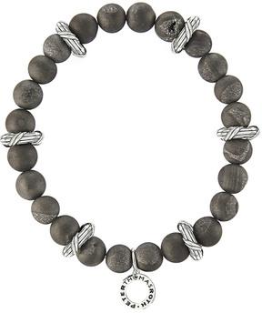 Peter Thomas Roth Explorer Silver Druzy Beaded Bracelet