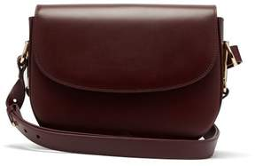 A.P.C. Odette Leather Cross Body Bag - Womens - Burgundy
