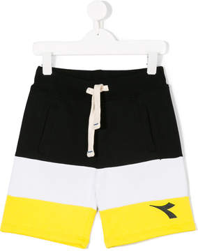 Diadora Junior stripe panel shorts