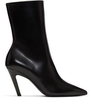 Balenciaga Black Slash Heel Boots