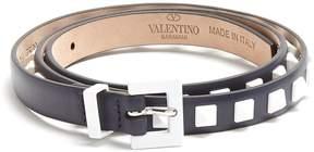 Valentino Free Rockstud skinny leather belt